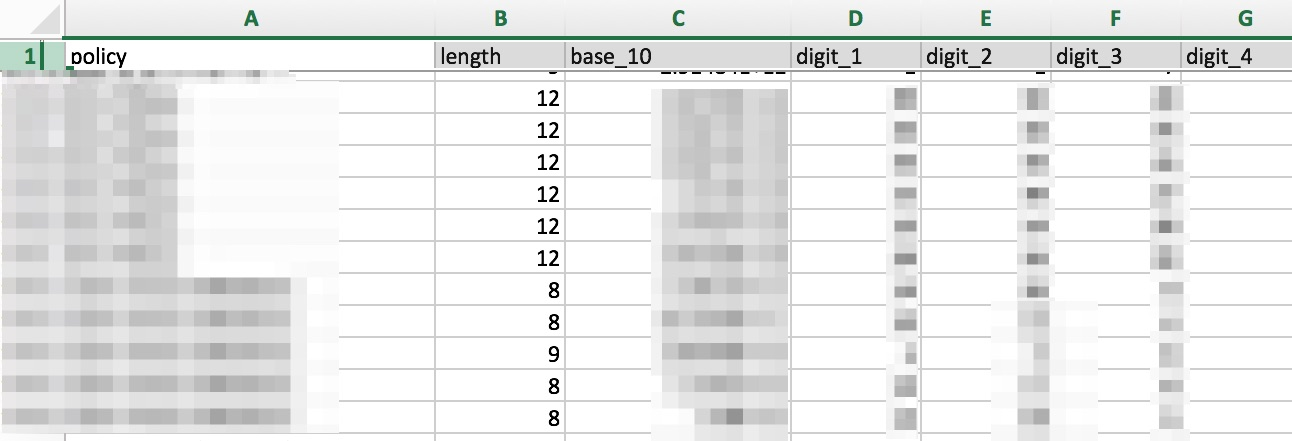 Features Spreadsheet