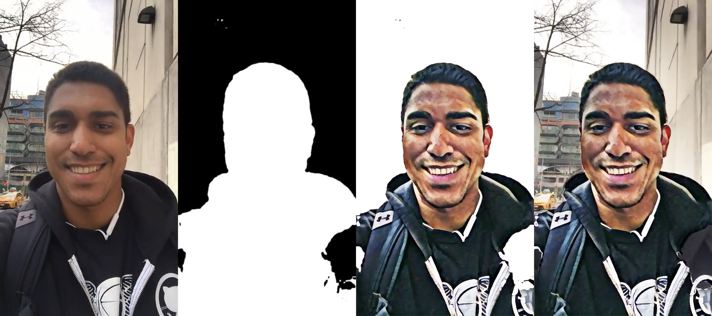 Automatic Selfie Segmentation and Style Transfer · dimroc